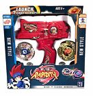 NEW BEYBLADE SET METAL FUSION FIGHT MASTER TOPS + DUAL LAUNCHER USA