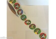 Lot of 24 Round Frog Stickers - Great for Birthday Parties & Christmas