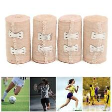 4 Roll Health Care Sport First Aid Bandage Hook Closure Rubber Elastic Bandage