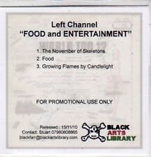 (BQ729) Left Channel, Food and Entertainment - DJ CD
