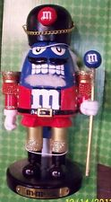 M&M Blue Nutcracker Christmas Figure