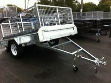 8x5 TILT NEW HEAVY DUTY CAGED BOX TRAILER TAKE HOME TODAY !
