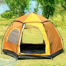 4 Person Gazelle Pop Up Camping Hiking Instant Umbrella Tent Mesh Screen RainFly