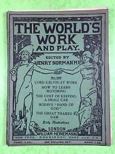 THE WORLD'S WORK & PLAY - Edwardian Shilling Monthly - May 1905 - Henry Norman