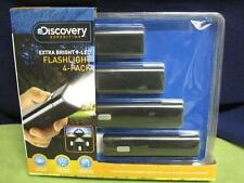 AWESOME DISCOVERY EXTRA BRIGHT 9 LED FLASHLIGHT 4-PACK AMAZING DEAL! 163744