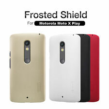 Original Nillkin Frosted Hard Back Cover Case For Motorola Moto X Play - BLACK