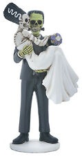 Frankenstein & Bride Loving Couple Halloween Wedding Cake Topper Statue Figurine