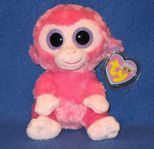 TY BEANIE BOOS BOO'S - RAZBERRY the MONKEY - MINT with MINT TAGS