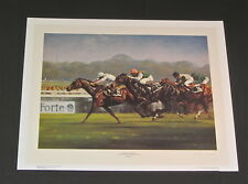 Graham Isom - Dancing Brave & Trip  - Collectible Race Horse Print