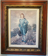 "The Blue Boy Thomas Gainsborough VTG REPRO Antique Wood Frame 24"" Art Painting"