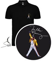 POLO SHIRT T-SHIRT FREDDIE MERCURY QUEEN MUSIC PRESENT ORIGINAL SIL Mq002p