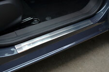 CHROME DOOR SILL PLATE COVERS SCUFF PROTECTORS TRIM SET FOR FORD FIESTA 02-08