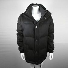 LOUIS VUITTON DOWN JACKET - MEDIUM - US 38 - 48 - BLACK WOOL PUFFER COAT DAMIER