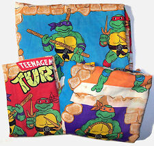 1988 Teenage Mutant Ninja Turtles TMNT 3 Pc Twin Sheet Set - VGC