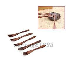 Creative Wooden Dinner Spoons and Forks Set 1 Pairs Wood Flatware Utensils Set