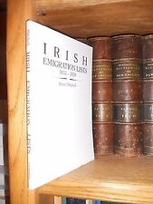 Irish emigration Lists 1833-1839 Genealogy Book
