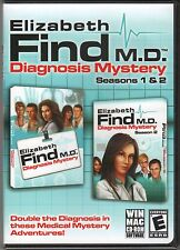 ELIZABETH FIND M.D. DIAGNOSIS MYSTERY Seasons 1 & 2 Hidden Object PC Game CD NEW