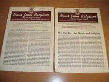 2 NEWS FROM BELGIUM & CONGO Magazines 1942 World War 2 WWII Photographs Rare
