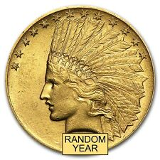 $10 Indian Gold Eagle Pre-33 Gold Coin - Random Year - Almost Uncirculated