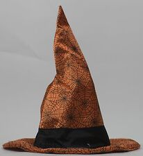 Halloween Animated Orange with Black Spider Web Witch Hat Sing Boo Like Jagger