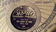 CHRIS HALL ONE NIGHT IN JUNE & JUST LIKE DARBY AND JOAN EDISON BELL 836