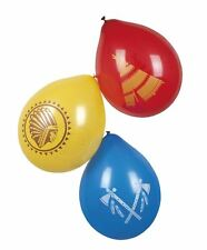 6 PACK OF INDIANS BALLOONS 3 ASSORTED FANCY DRESS ACCESSORY PARTYWARE COWBOYS