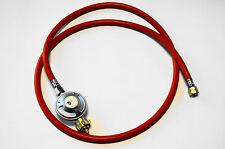 """Gasschlauch 200 cm 2 x 1/4 """" + Gasdruckregler 50 mbar Gas Schlauch Butan Propan"""