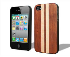 iPhone 4S/4 Handcrafted Real Rose-Mape Wood Case Superior Grip