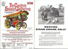 Weeting Steam Traction Engine rally programme + Cumbria Gathering Showmans flyer