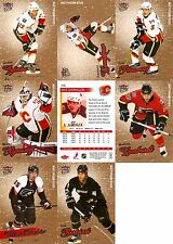 2008-09 UD Fleer Ultra Gold Calgary Flames Complete Team Set w/ RC (8)