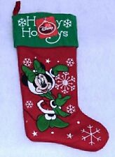 Disney Minnie Mouse Christmas Stocking Happy Holidays 18 in. 3D Image Snowflakes