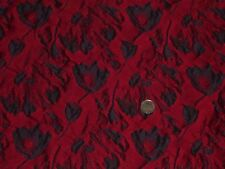 ITALIAN FLORAL JACQUARD-NAVY/RED -DRESS FABRIC