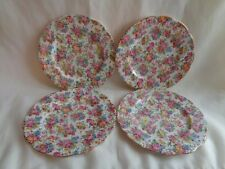 4~ROYAL ALBERT OLD COUNTRY ROSES  CHINTZ SALAD/LUNCH PLATES #2