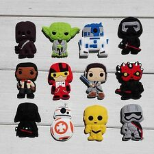 60pcs star wars Shoe charms shoe accessories kids Croc with holes kids gifts