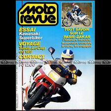 MOTO REVUE N°2731 KAWASAKI 500 KX YAMAHA FJ 1200 SUZUKI DR 600 PIERRE BOLLE 1985