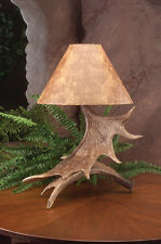Moose Antler Table Lamp, 19x25, Rustic Cabin Deer Lamps & Lighting, Beautiful