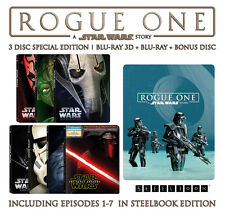 Rogue One: A Star Wars Story + Ep 1-7 (STEELBOOK)(Blu-ray 3D + Blu-ray)(11 Disc)