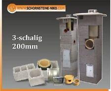 9m DN ø 200mm (20cm) Keramik Schornstein Bausatz Kamin Massiv 3 schalig