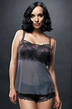 FAUVE CHRISTINE CHARCOAL CAMISOLE & SHORT SET SIZE S/10-12 NEW