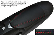 RED STITCHING ARMREST LID LEATHER SKIN COVER FITS NISSAN 370Z Z34 2009-2015
