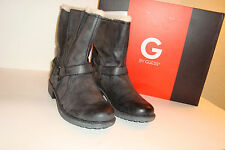 G BY Guess Womens NWB Satria Black Gray Boots Shoes 10 MED NEW