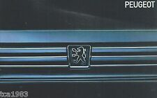 1990?1991 PEUGEOT 405/505 Brochure/Catalog:Mi 16,TURBO,2.8i,SW8,2.2i,DL,Mi16,'91