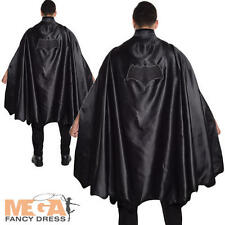 Batman Adult Fancy Dress Cape DC Comic Book Day Mens Superhero Costume Accessory