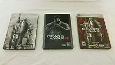Gears of War 2 and 3 Collector's Edition PLUS DISPLAY ONLY STEELBOOK Xbox 360