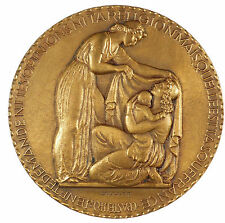 France mother and child IN MEMORIAM bronze 70mm by Muller