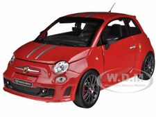 FIAT ABARTH 695 FERRARI TRIBUTE RED 1/24 DIECAST MODEL CAR BY BBURAGO 21070