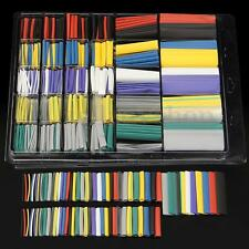 500Pcs Assortment 2:1 Heat Shrink Tubing Tube Cable Sleeving Wrap Wire Kit Box