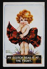 18 Oct 1918 WW1 Postcard Scottish Girl Front Winchester St Ludgershall Hampshire