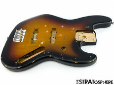 Vintage 60s RI ROAD WORN Fender JAZZ BASS BODY & HARDWARE 1962 3 Color Sunburst