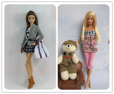 2 Set Fashion Lovely Clothes Outfit Casual Wear FOR Barbie Doll Girl's gift